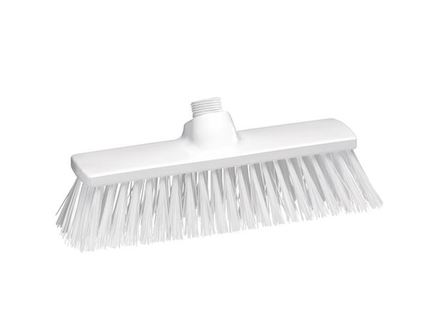 Brooms / Brushes / Scrubbing  Brushes: Hygiene Broom polyester 300x70 mm + white