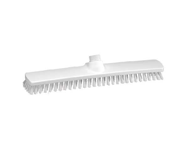 Brooms / Brushes / Scrubbing  Brushes: Broad surface scrubber, Low + transparent