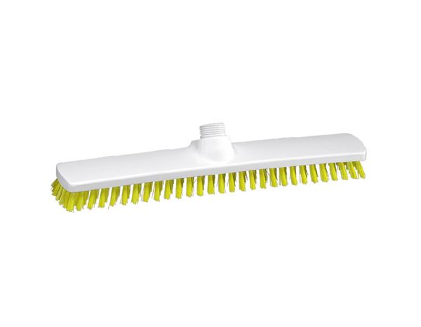 Brooms | Brushes | Scrubbers: Broad surface scrubber, Low + yellow