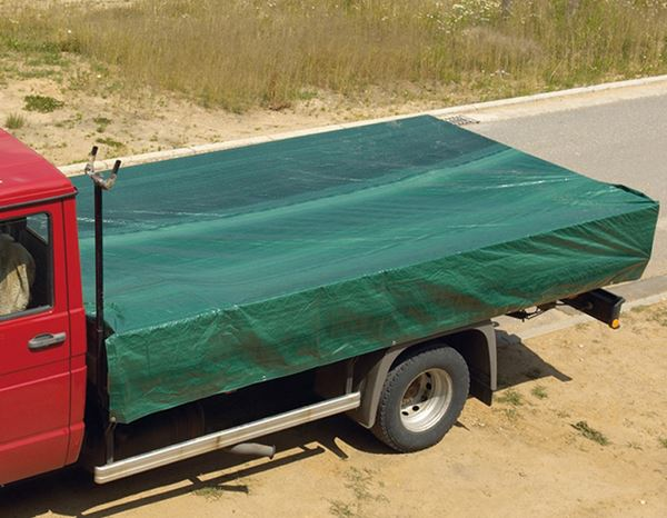 Construction tarpaulins | Fabric tarpaulins: Canvas Cover with Eyelets 1