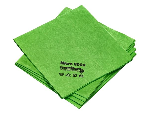 Cloths: Microfibre cloths MICRO 3000 + green