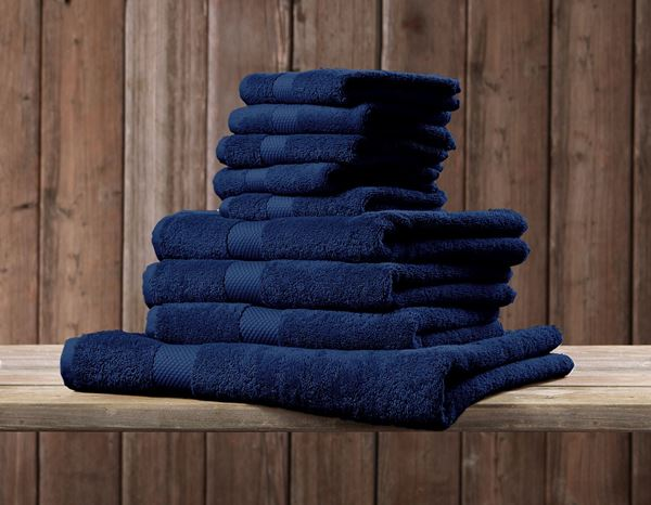 Cloths: Terry cloth towel Premium pack of 3 + navy 1