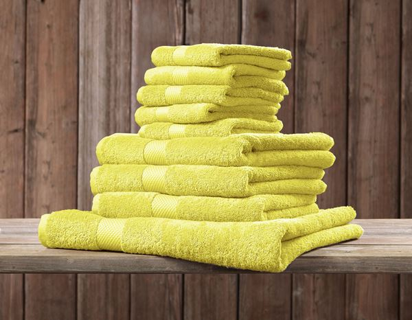 Cloths: Terry cloth towel Premium pack of 3 + yellow 1