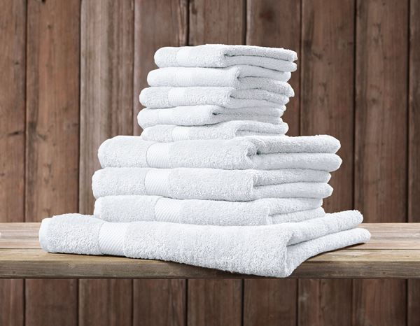 Cloths: Terry cloth towel Premium pack of 3 + white 1