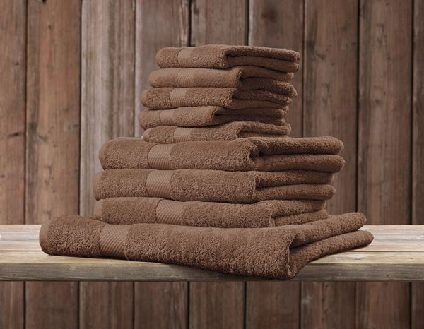 Cloths: Terry cloth towel Premium pack of 3 + toffee 1