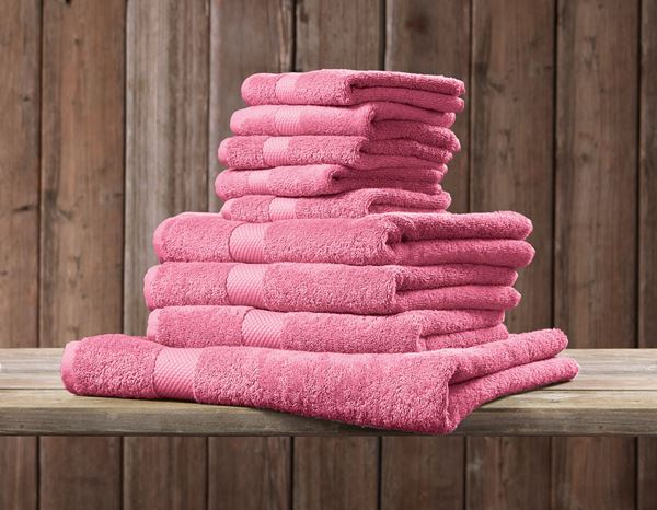 Cloths: Terry cloth towel Premium pack of 3 + rose 1