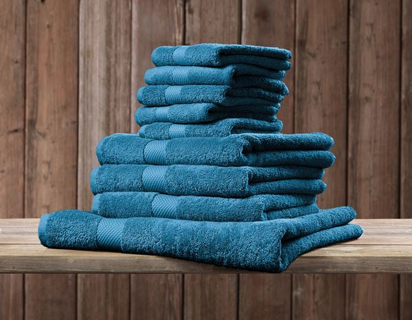 Cloths: Terry cloth shower towel Premium + cobalt 1