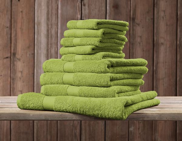 Cloths: Terry cloth shower towel Premium + maygreen 1