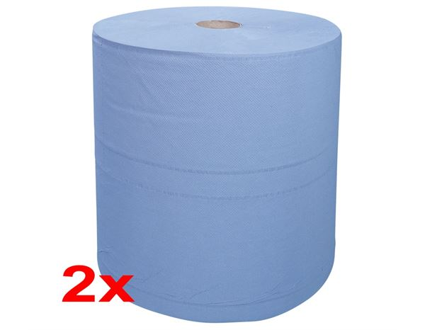 Cloths: Industrial cleaning paper on rolls, pack of 2