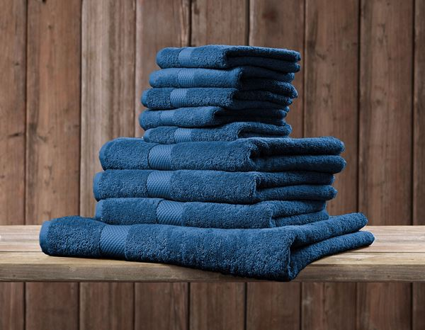 Cloths: Guest towel Premium pack of 5 + blue 1