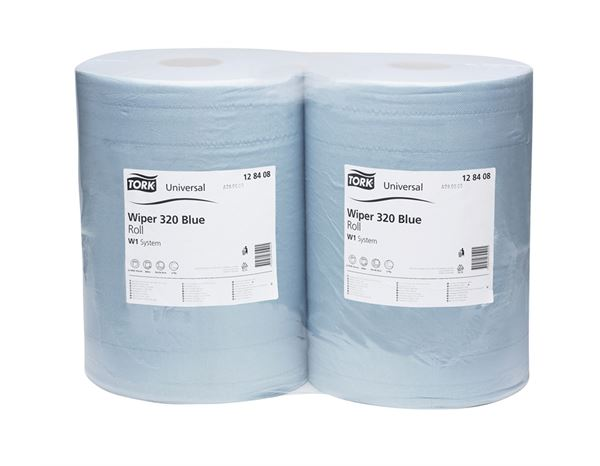 Towels: Tork cleaning paper on rolls, pack of 2