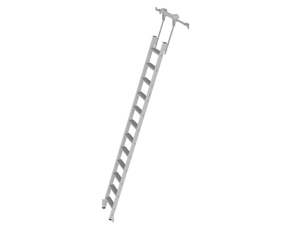 Ladders: KRAUSE Alu-Stufen-Regalleiter