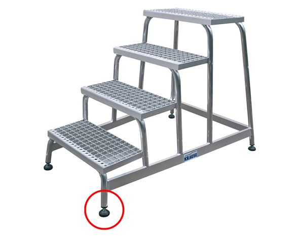 Ladders: KRAUSE alu-stepladder, grated steps