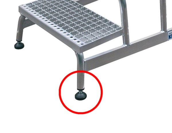 Ladders: KRAUSE alu-stepladder, grated steps 1