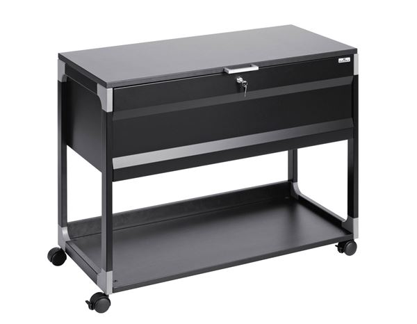 Schränke: Durable System File Trolley Multi Top + schwarz