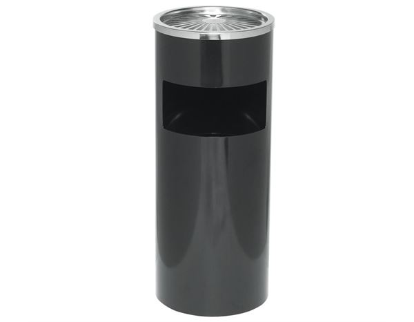 Waste bags | Waste disposal: ALCO Rubbish Bin with integrated Ashtray,61x25 cm + black