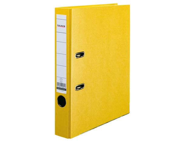 Organisation: Falken Plastic A4 Lever Arch Files + yellow
