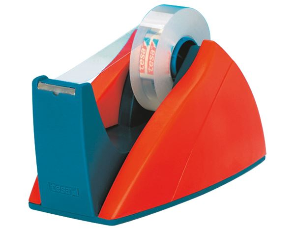 Desk accessories: tesa Desktop Easy Cut Tape Dispensers + red/blue