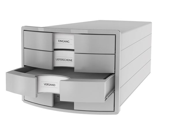 Letter Trays / Magazine Files: HAN File Drawer Box + light grey 1