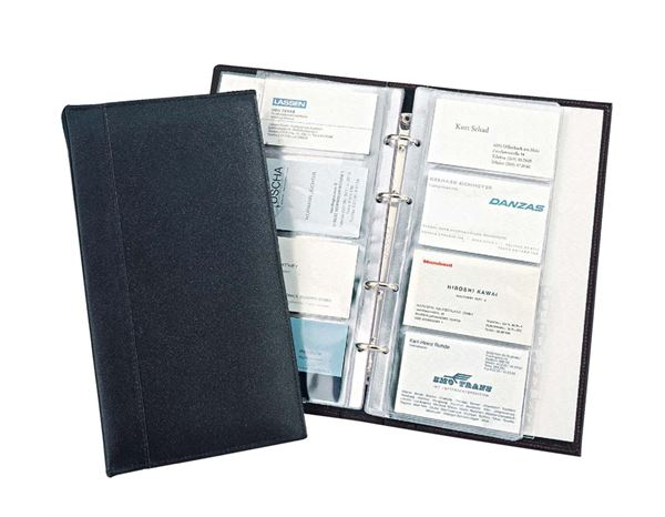Organiser Books: Business Card Loose Leafe File + black
