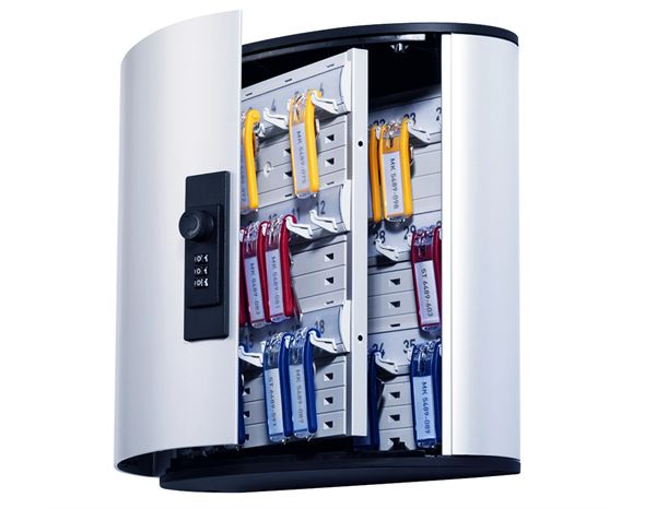 Storage: DURABLE key cabinet with number lock + silver-metallic