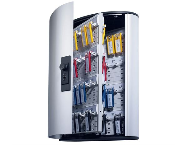 Organisational Supplies: DURABLE key cabinet with number lock + silver-metallic 1