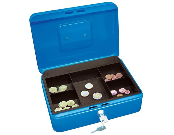 Storage: WEDO Cash & Valuables Boxes + blue