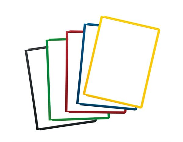 Presentation Supplies: DURABLE Replacement Tablets + assorted colours