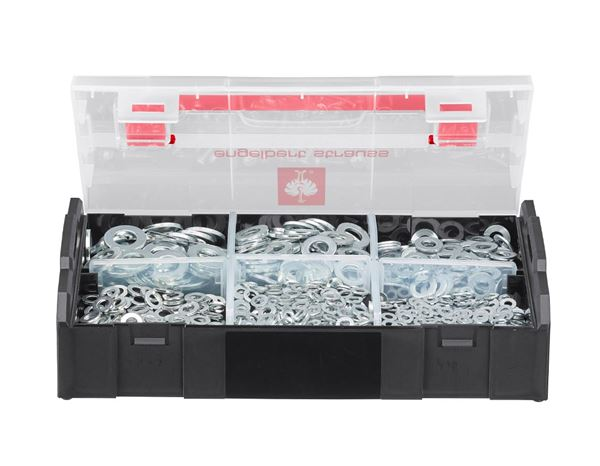 System boxes: Washers, DIN 125, 1000 pieces